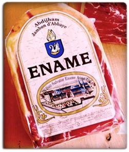 Le jambon de l'abbaye d'Ename ®, le seul jambon véritable de l'abbaye Saint-Sauveur !